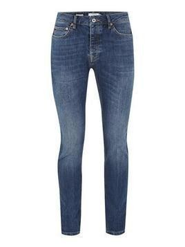 Mid Blue Marble Wash Skinny Jeans