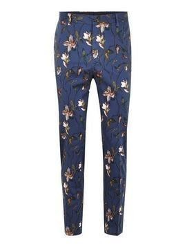 Navy Tulip Skinny Suit Trousers