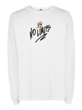 White 'No Limits' Long Sleeve T-Shirt