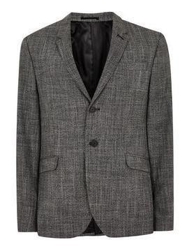 Black And White Crosshatch Skinny Blazer