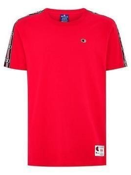 CHAMPION Red With Silver Taping T-Shirt