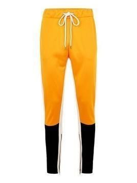 GRANTED Yellow and Black Panelled Poly Tricot Joggers*