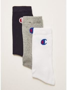 CHAMPION Assorted Colour Tube Socks 3 Pack
