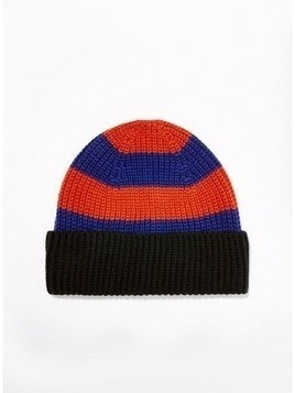 Red and Blue Stripe Beanie