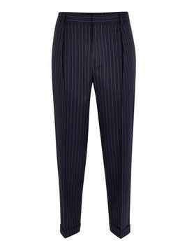 Navy Pinstripe Southdown Trousers