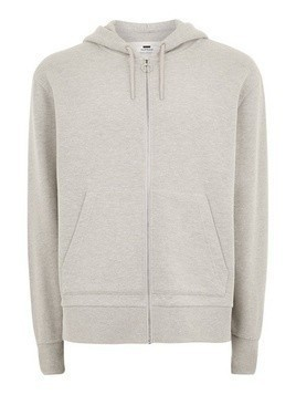 Grey Zip Through Hoodie