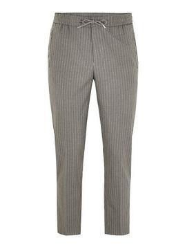 Grey Pinstripe Smart Joggers