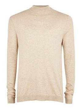 Stone Marl Roll Neck Jumper