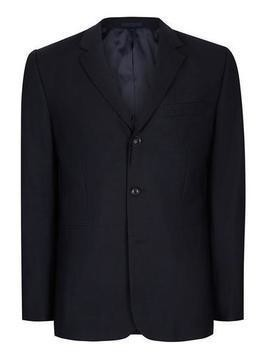 CHARLIE CASELY-HAYFORD X TOPMAN Navy Ribbed Relaxed Fit Weekend Suit Jacket