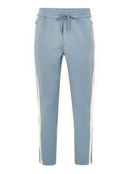 Light Blue Track Joggers With Side Panel