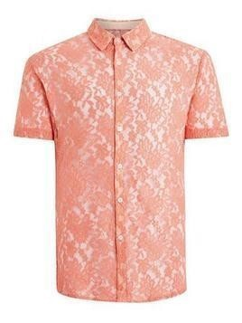 Rose Lace Short Sleeve Shirt