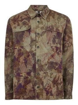 Khaki Camouflage Long Sleeve Overshirt