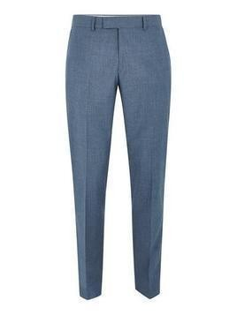 FARAH Blue 'Hurstleigh' Smart Trousers