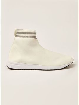 White Knit Viper Sock Boots