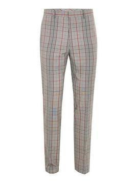 Brown Check Muscle Fit Trousers