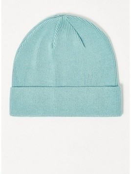 Aqua Blue Cotton Mix Skater Beanie
