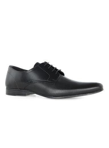 Black Leather 'Brisk' Circle Derby Shoes