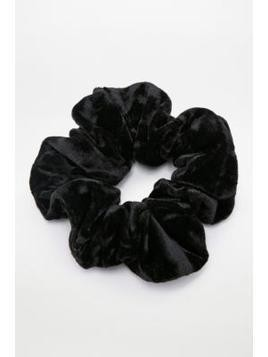 Crushed Velvet Black Scrunchie Hair Band - Womens ALL