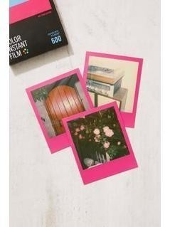 Impossible Colour Polaroid 600 Hot Pink Frame Instant Film