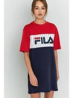 FILA Ruby T-Shirt Dress - Womens XS
