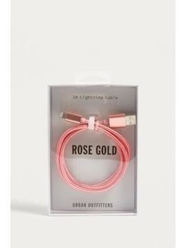 Rose Gold Lightning Cable