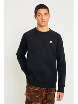 Nike SB Icon Black Crewneck Sweatshirt - Mens L
