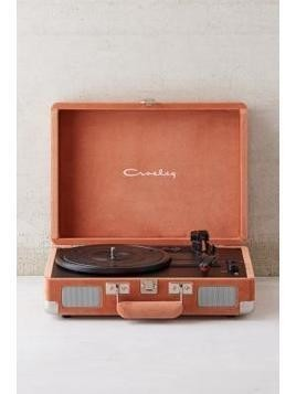 Crosley X UO Blush Velvet Cruiser Bluetooth Record Player