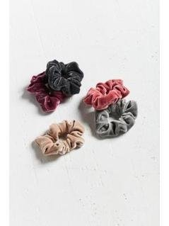 Velvet Hair Scrunchie Hair Band 5-Pack - Womens ALL