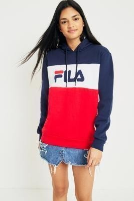 FILA Cara Colour-Block Logo Hoodie - Womens S