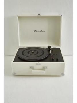 Crosley Keepsake White Vinyl Record Player