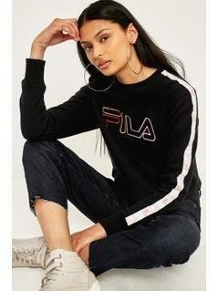 FILA Striped Sleeve Cropped Jumper - Womens L