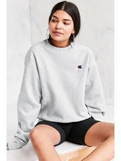 Champion Grey Reverse Weave Pullover Sweatshirt - Womens M