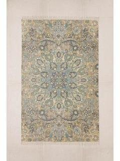 Neva Medallion Printed Blue 5x7 Rug