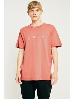 OBEY Novel Dusty Rose Pigment Dye T-shirt - Mens M