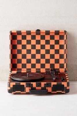 Crosley Checkerboard Orange + Black Cruiser Bluetooth Record Player