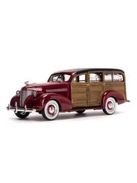 Chevrolet Woody Surf Wagon 1939 (permanent red with surf board real wood) - DARMOWA DOSTAWA!!!