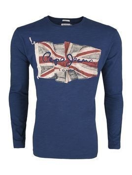 T-Shirt Pepe Jeans Flag Tee Long Blue