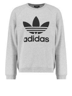 adidas Originals TREFOIL Bluza medium grey heather/black