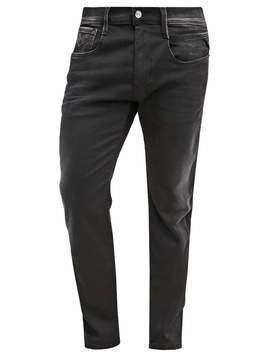 Replay HYPERFLEX ANBASS Jeansy Straight leg black denim