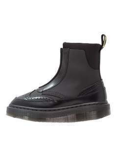 Dr. Martens JEMISON ZIP CONCEPT & POLISHED SMOOTH Botki na platformie black