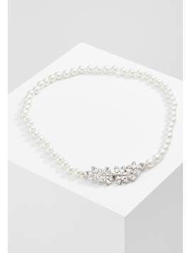 Kenneth Jay Lane LIGHT CULT PEARL WITHLEAF CLASP  Naszyjnik offwhite