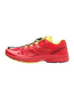 Salomon SONIC PRO  Obuwie do biegania Szlak radiant red/gecko green