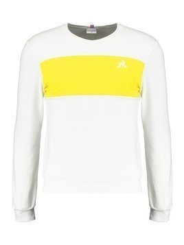le coq sportif SAISON CREW NECK Bluza optical white/empire yellow