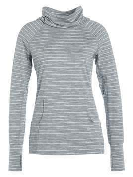 GAP STRIPE MOCK NECK Koszulka sportowa mercury grey