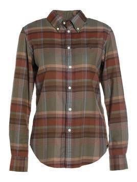 Polo Ralph Lauren BRUSHED PLAID CLASSIC FIT Koszula rust/moss