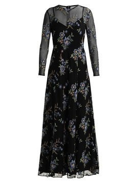 IVY & OAK EMBROIDERED EVENING DRESS Długa sukienka black