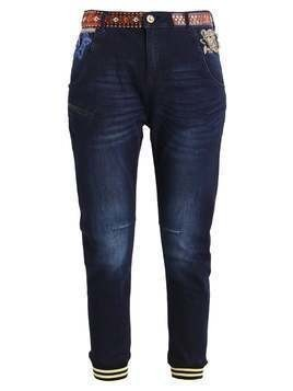 Desigual EXOTIC BOYFRIEND PATCH Jeansy Relaxed fit stone blue
