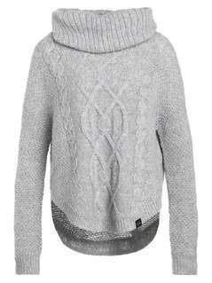 Superdry LIA CABLE COWL  Sweter grey marl