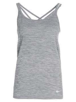 Nike Performance DRIFIT KNIT Koszulka sportowa cool grey/heather/reflective silver