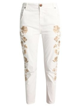Desigual BRAZI Jeansy Relaxed Fit white
